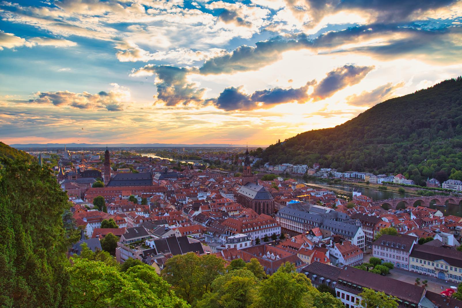 Sonnenuntergang in Heidelberg / Schloss Heidelberg bester Fotospot justmarius